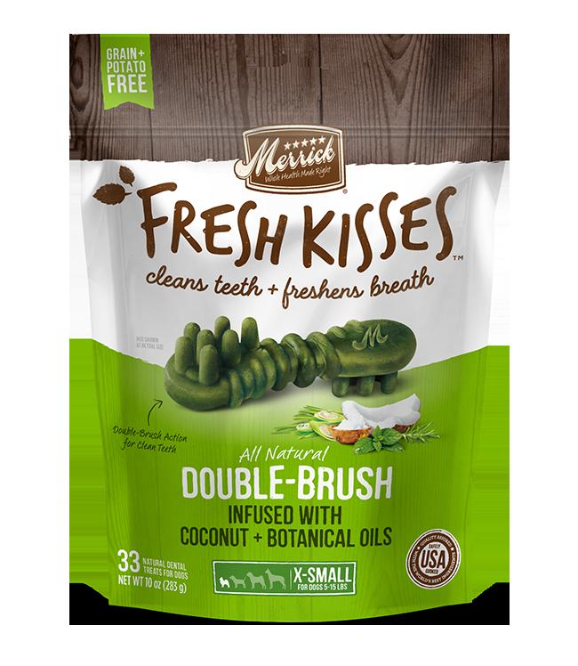 MERRICK FRESH KISSES DENTAL TREATS X-SMALL 33 COUNT