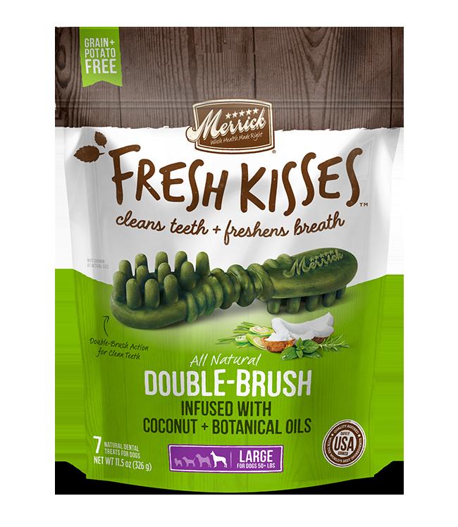 MERRICK FRESH KISSES DENTAL TREATS LARGE 7 COUNT