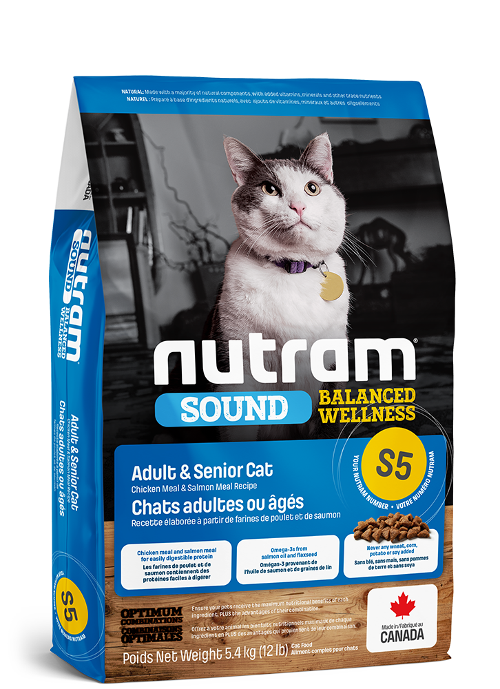 NUTRAM CAT S5 ADULT & SENIOR 1.13KG