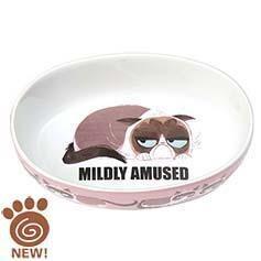 """Petrageous Grumpy Cat Mildly Amused 7"""" Bowl"""
