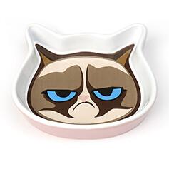 """Petrageous Grumpy Cat Face 5"""" Bowl Pink"""