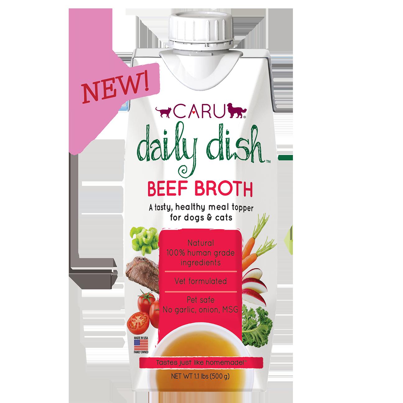 Caru Daily Dish Beef Broth 500g