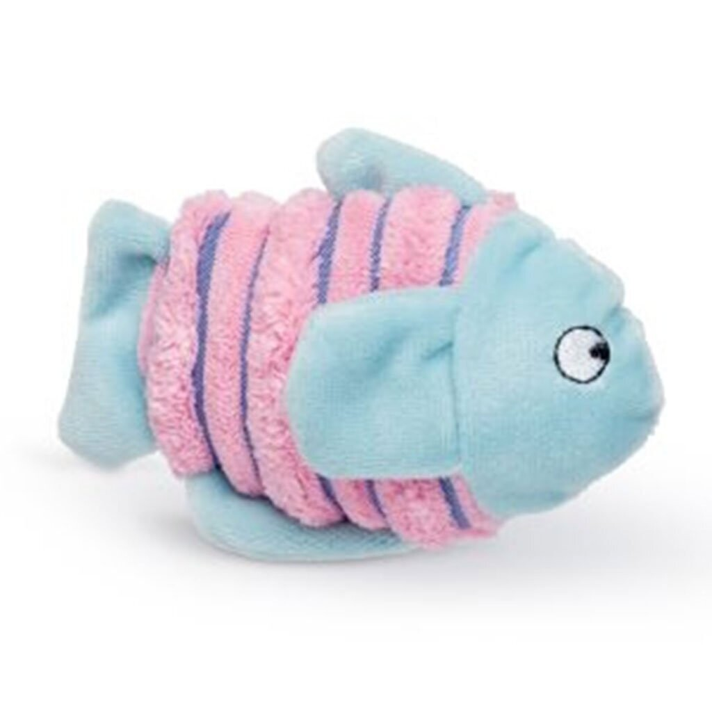 BUDZ Pink/Blue Fish Cat Toy