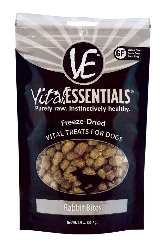 VitalEssentials Freeze-Dried Dog Treats - Rabbit Bites 2oz