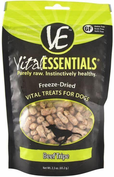 VitalEssentials Freeze-Dried Dog Treats - Beef Tripe 2.3oz