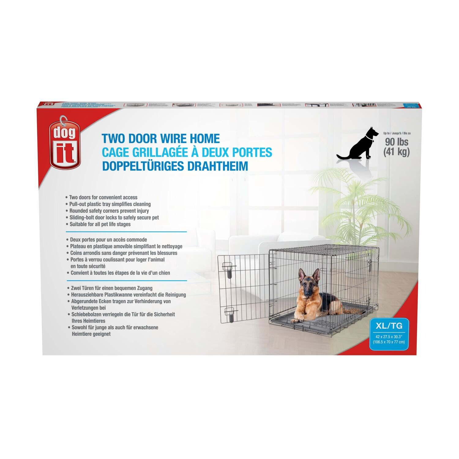 """DOGIT DOG CRATE X-LARGE 42"""" x 27.5"""" x 30"""""""