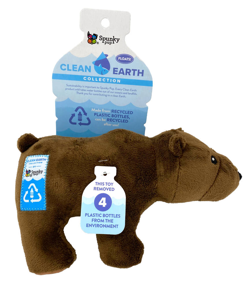 SPUNKY PUP CLEAN EARTH BEAR LARGE