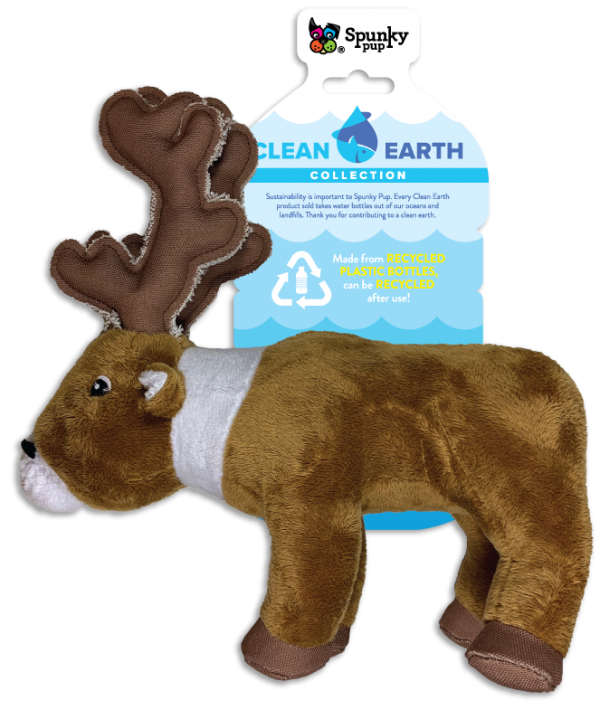 SPUNKY PUP CLEAN EARTH CARIBOU SMALL