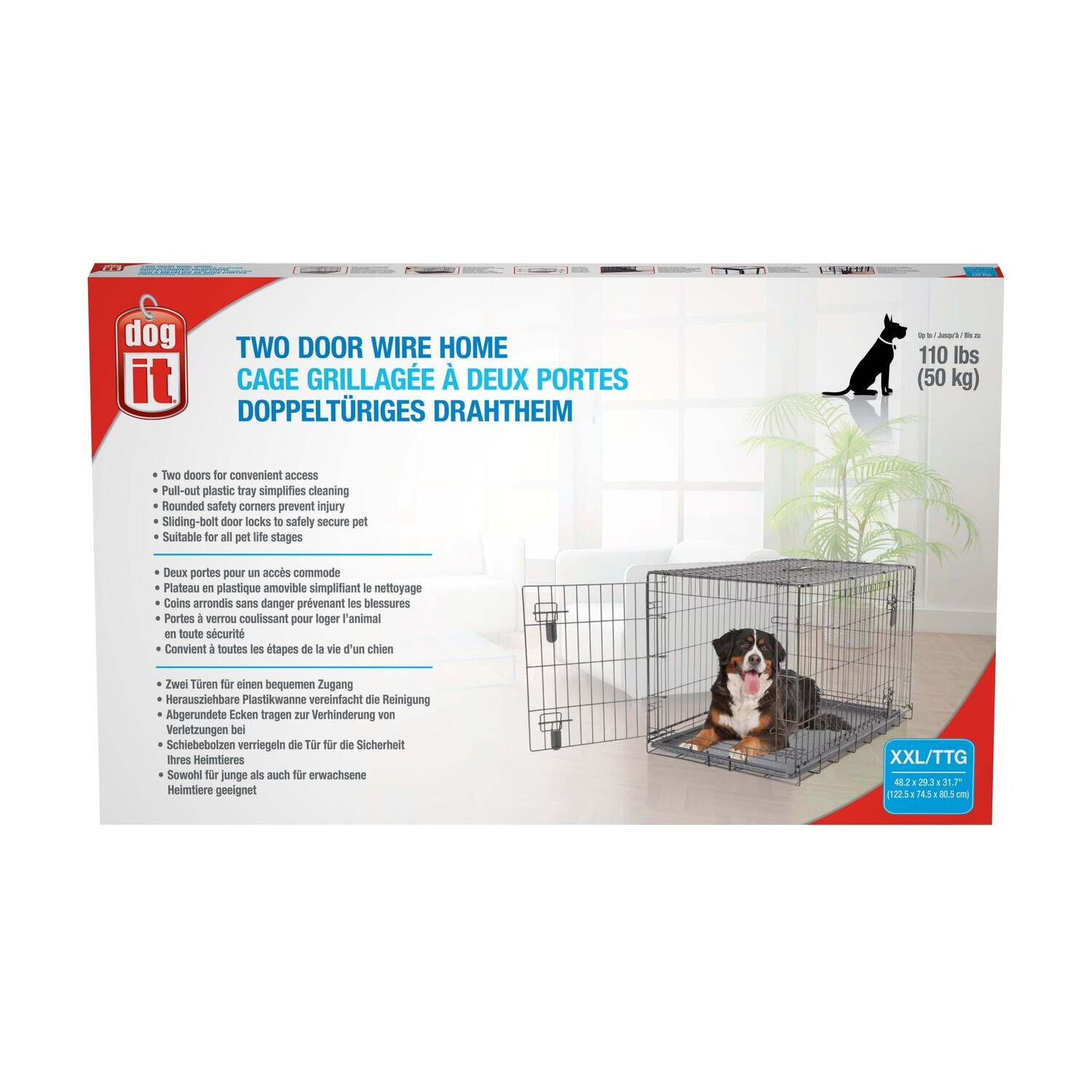 """DOGIT DOG CRATE XX-LARGE 48"""" x 29"""" x 31.5"""""""