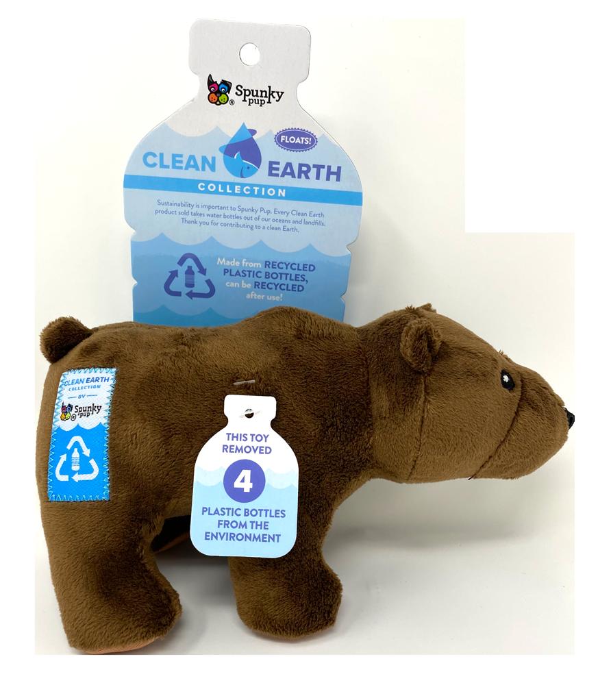 SPUNKY PUP CLEAN EARTH BEAR SMALL