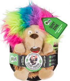 goDog Silent Squeak - Crazy Hair Hedgehog Small