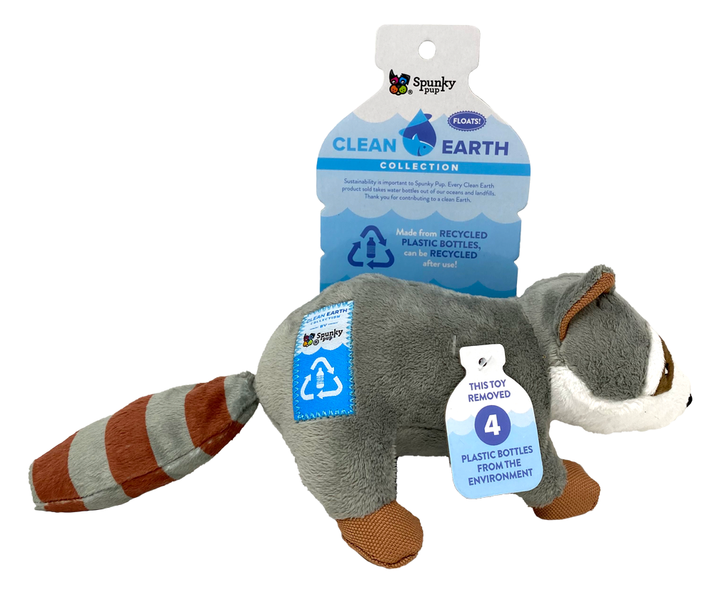 SPUNKY PUP CLEAN EARTH RACCOON LARGE