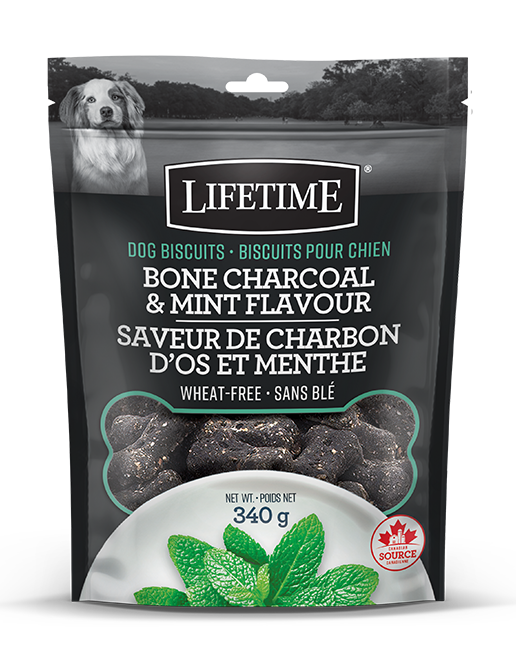 Lifetime Charcoal Mint Biscuits 340g