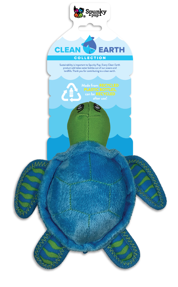SPUNKY PUP CLEAN EARTH TURTLE LARGE