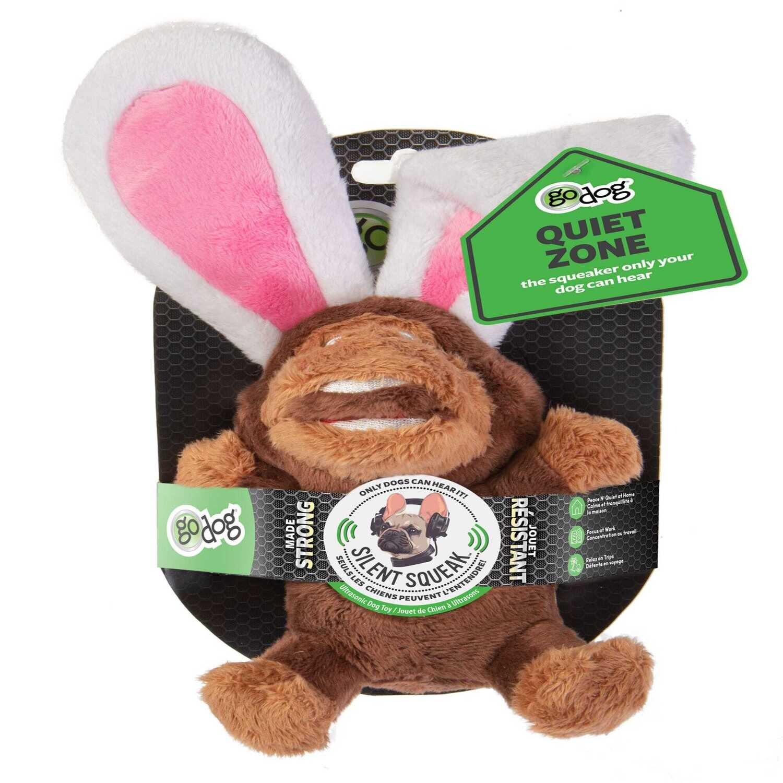 goDog Silent Squeak - Monkey Rabbit Small