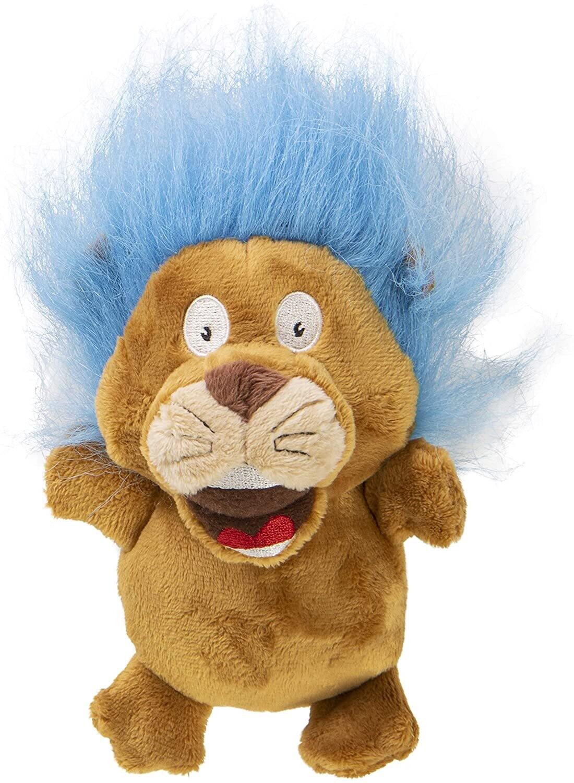 goDog Silent Squeak - Crazy Hair Lion Small