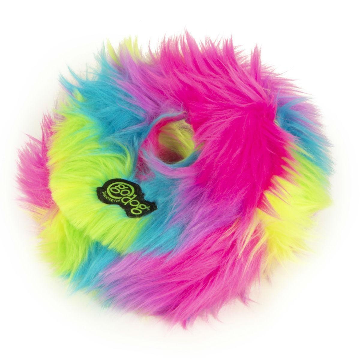 goDog Furballz Rainbow Ring Large