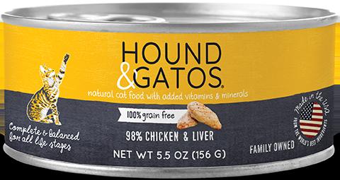 HOUND & GATOS CAT CAN - CHICKEN & LIVER 5.5oz