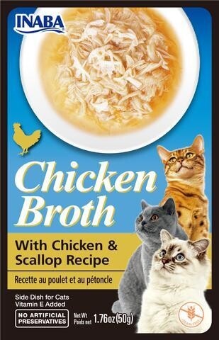 INABA CHICKEN BROTH WITH CHICKEN & SCALLOPS SIDE DISH 50g