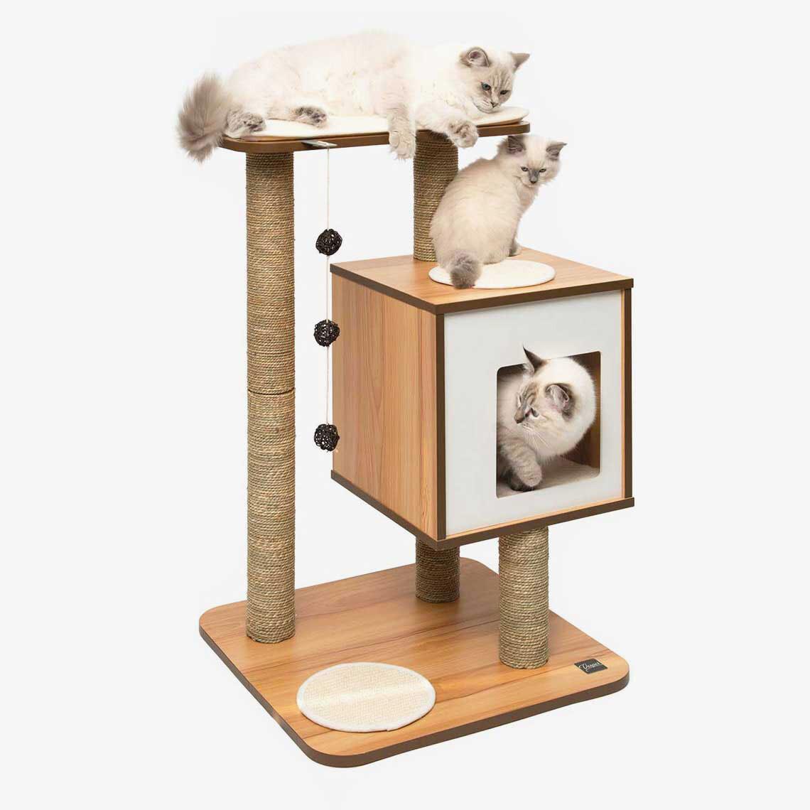 Vesper Cat Furniture Base Walnut