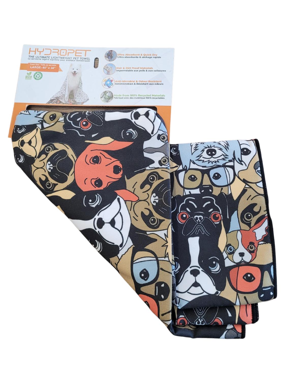 HydroPet Towel Dog Print Small