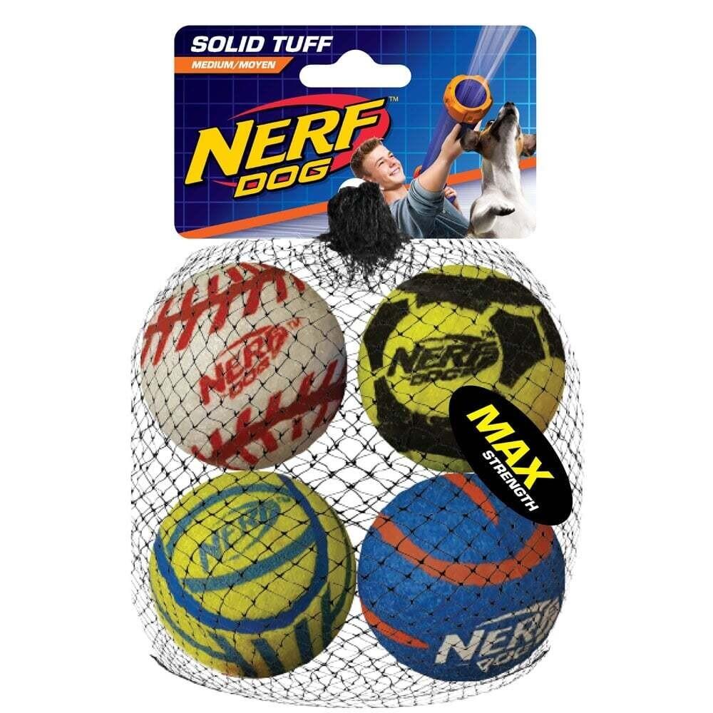 NERF MEGA TUFF SPORTS BALLS 4pk