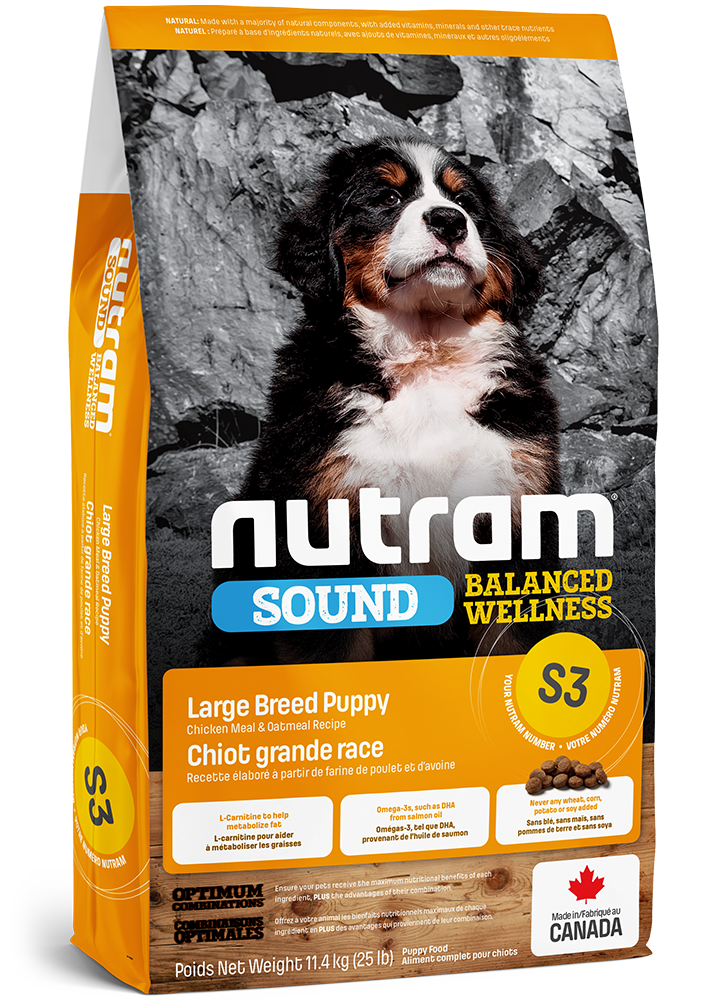 NUTRAM S3 LARGE BREED PUPPY 11.4kg