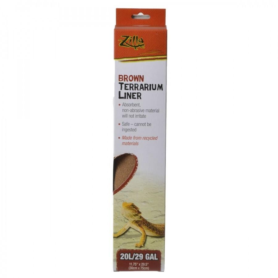 Zilla Brown Terrarium Liner 20L/29 gal