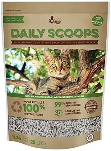 CAT LOVE DAILY SCOOPS PAPER LITTER 25 LB