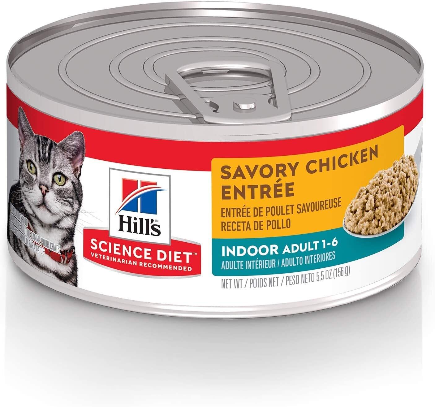 HILL'S SCIENCE DIET ADULT CAT INDOOR CHICKEN ENTREE 5.5OZ