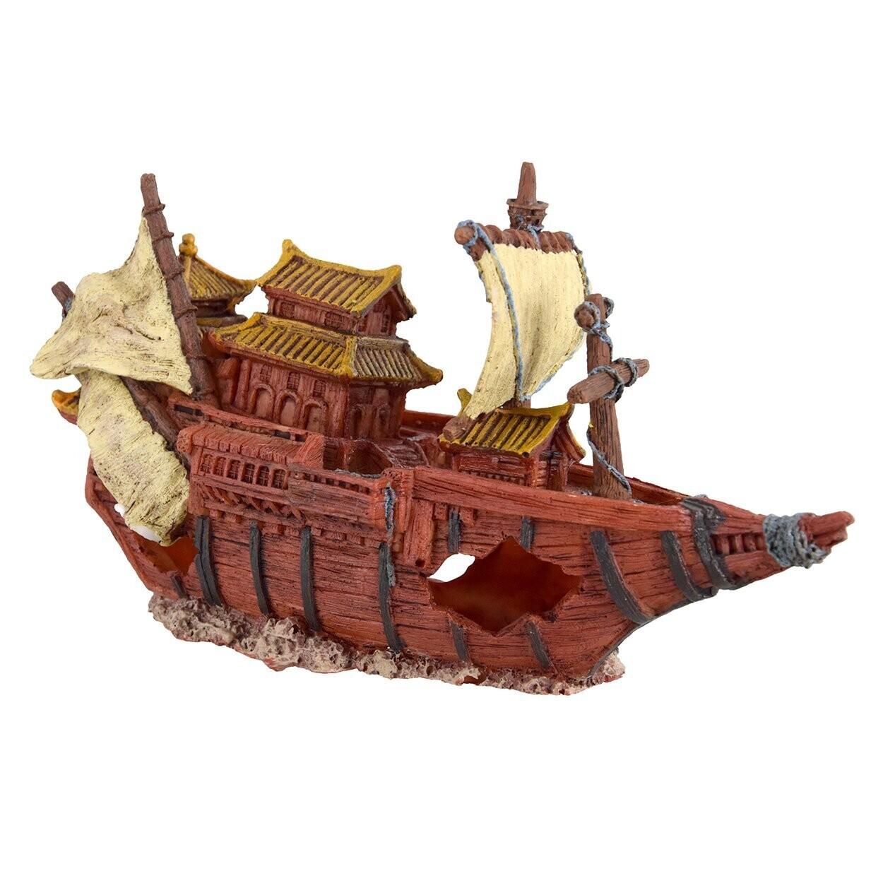 Underwater Treasures Junk Ship