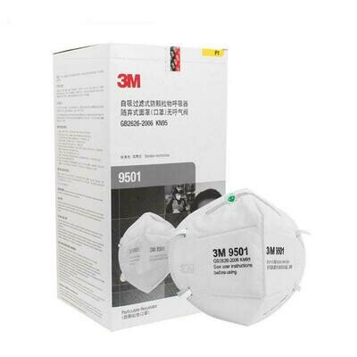 3M 9501 - Particulate Respirator Face Mask - 2 Per Pack
