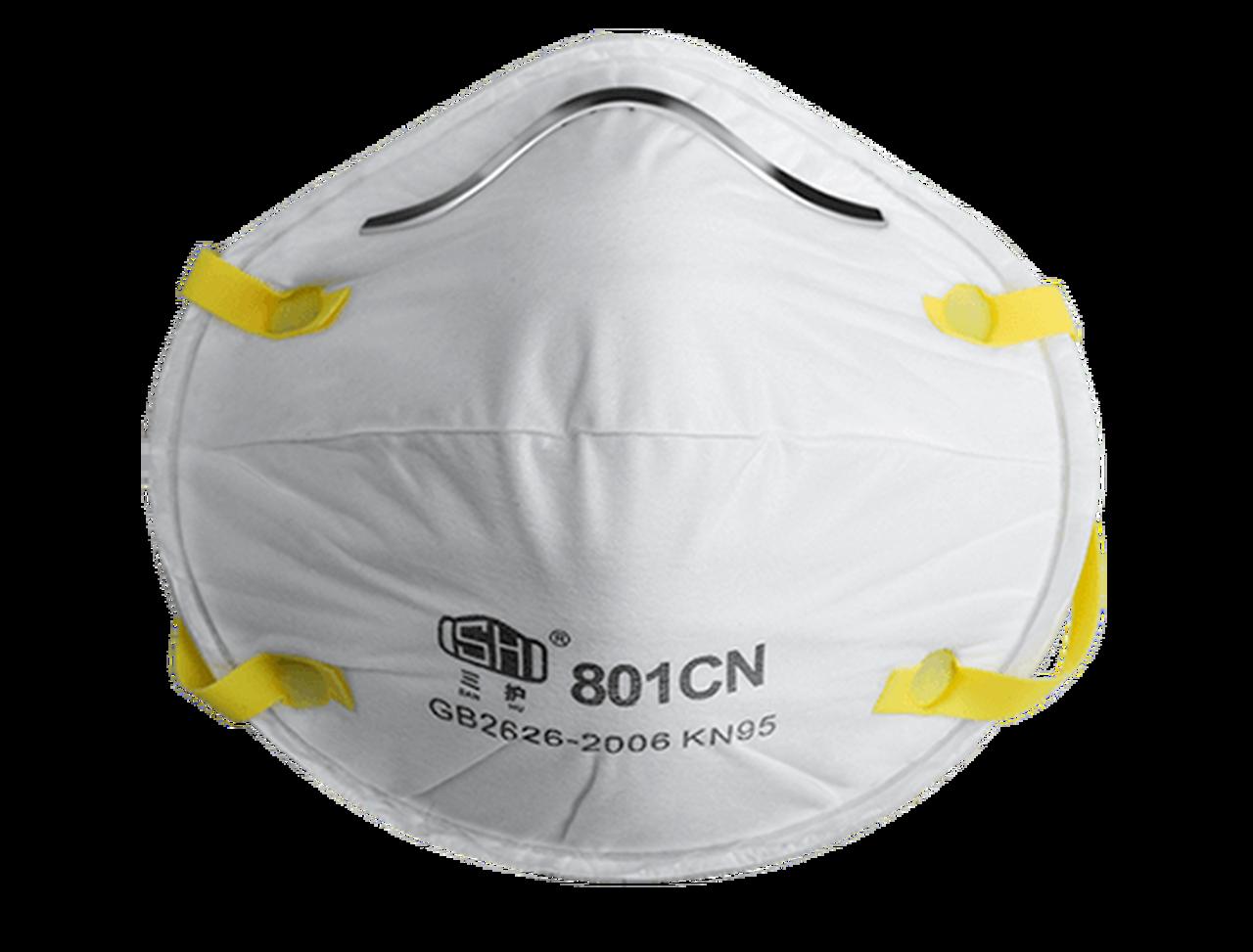 Head Straps Mask KN95 – FFP2 – SH 801CN Conical - $1.80 PC