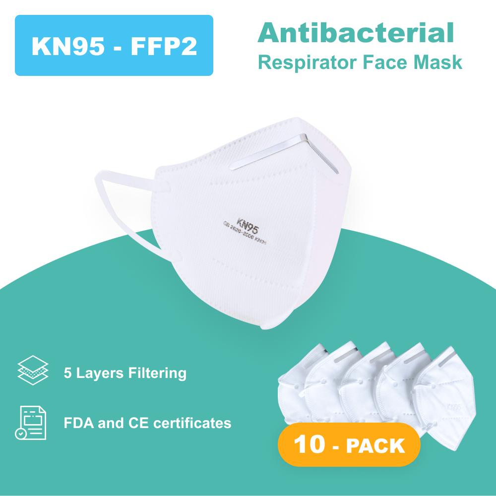 N95 - Antibacterial Reusable Face Mask - 10 PACK