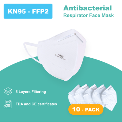 N95 - Antibacterial Reusable Face Mask - 10 PACK