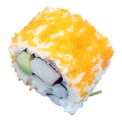 California: snow crab avocado | mayo | fishroe (8 pieces)