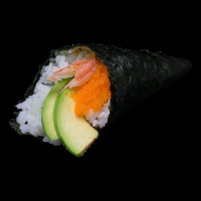Granchio di neve per handroll | Avocado | Mayo | Uova di pesce
