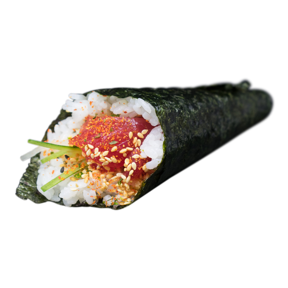 Handroll Spicy Tuna: cucumber, shichimi, sesame, mayo