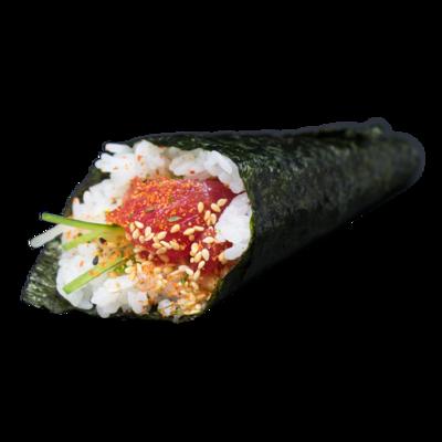 Handroll Spicy Tonno: cetriolo, shichimi, sesamo, maionese