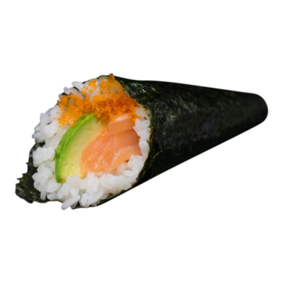 Handroll Salmon, avocado, mayonnaise, roe