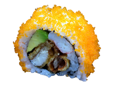 Mighty Spider: soft shell crab | avocado | snow crab | mayo | avocado | fishroe | sesame | wasabi (5pcs)