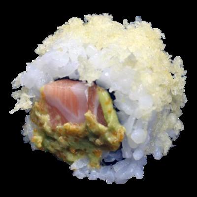 Saumon crémeux et croquant: saumon Avocat | Caviar | Mayonnaise | Croquant (8 pièces)