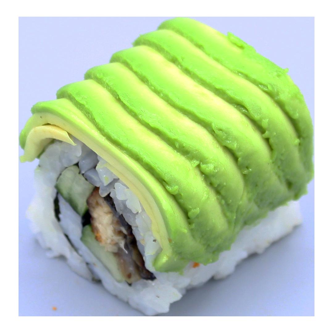 Dynamite: eel | teriyaki | cucumber | spicy sauce | avocado | sesam (8 pcs)