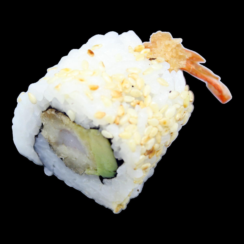 Hawai: geb.garnalen, komkommer, mayo, sesam (8st)