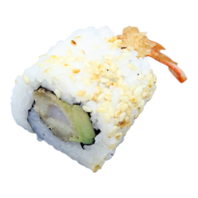 Hawaii: fried shrimp, cucumber, mayonnaise, sesame (8pcs)