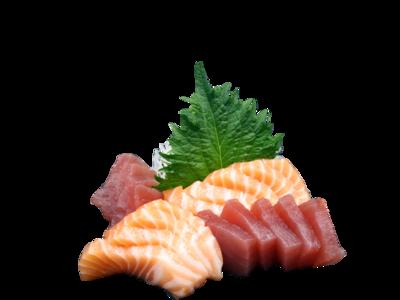 Zalm & tonijn sashim (18 pl)