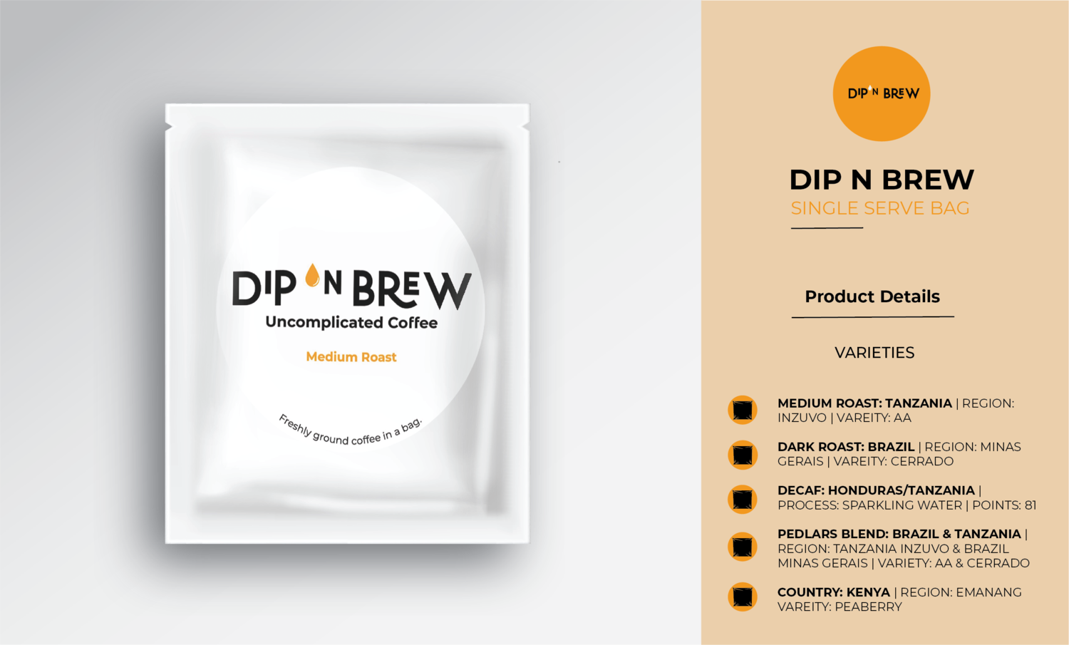 DIP N BREW - SINGLE SERVE BAG