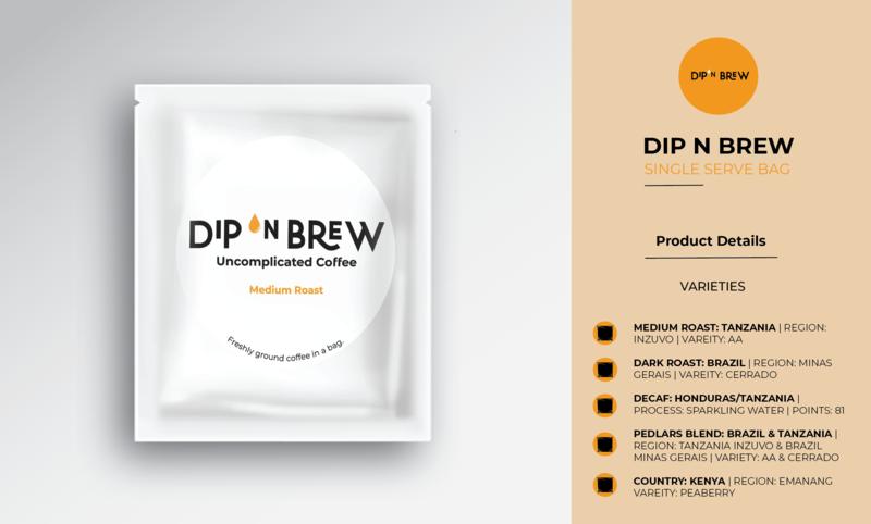DIP N BREW - SINGLE SERVE BAG