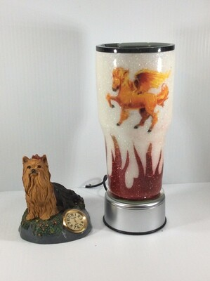 Flaming Horse Custom Tumbler