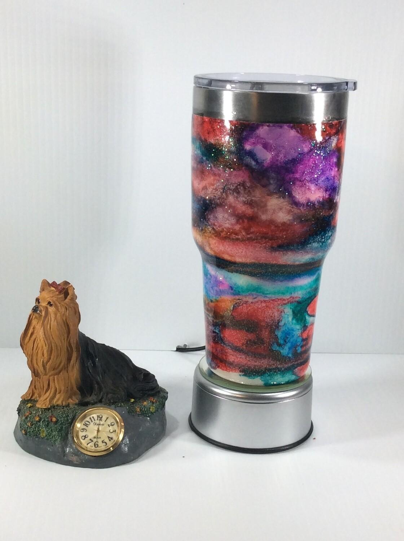 Multicolor Alcohol Ink Tumbler